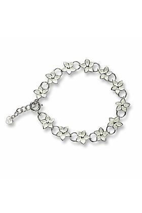 Silver Stephanotis  Floral Bracelet
