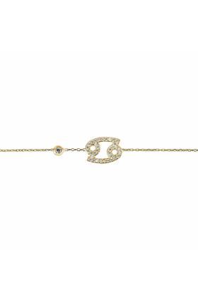 Cancer Zodiac Bracelet Gold