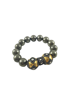 Mixed Metal & Pyrite Bracelet