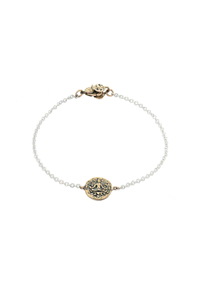 Bronze Prosperity & Abundance Mini-Medallion Bracelet