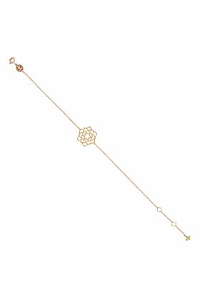 Rose Gold & Peridot Anahata Bracelet | Tiny-Om