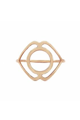 Rose Gold Ajna Ring | Tiny-Om