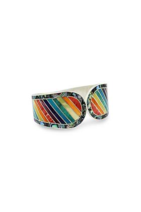 Sterling Silver Mosaic Rainbow Bracelet