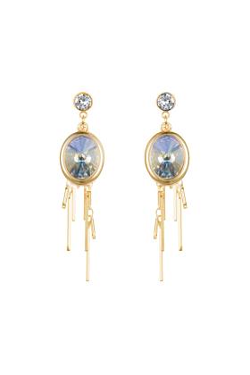 Aurora Gold Oval Cluster Earrings