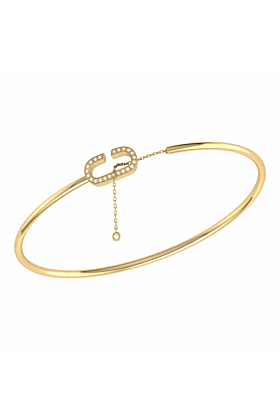 14kt Yellow Gold Plated Celia C Lariat Cuff