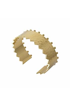 Gold Revolution Cuff Bangle