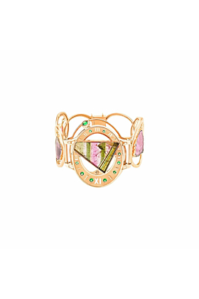 Rose Gold & Tourmaline Princess Bracelet | Jaime Moreno