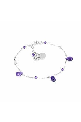 Cari Silver Amethyst Bracelet