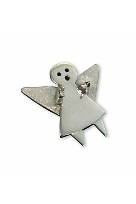 Sterling Silver Guardian Angel Pin