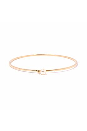 Gold & Pearl Satellite Bangle