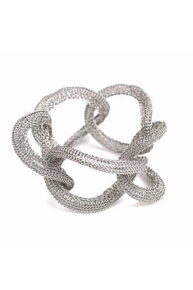 Goddess Ocean Link Twist Stainless Steel Bracelet