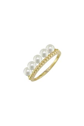 Burlington Yellow Gold Pearl Ring