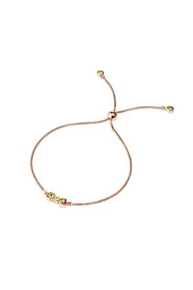 18kt Rose Gold Vermeil San Shi Peridot Bracelet