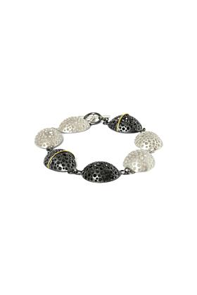 Patinated Black & Matt White Bracelet