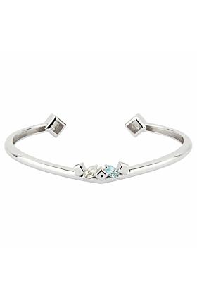Sterling Silver Topaz Daring Bracelet