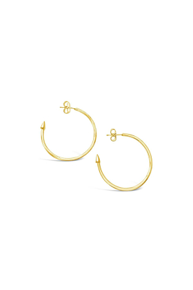 Yellow Gold Plated Flint Earrings