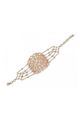 22kt Rose Gold Vermeil Micro Pave Filigree Bracelet