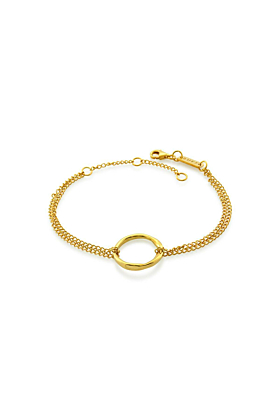 Yellow Gold Plated Circle Of Life Bracelet