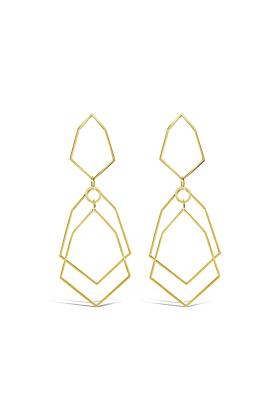 Yellow Gold Plated Corbett Earrings