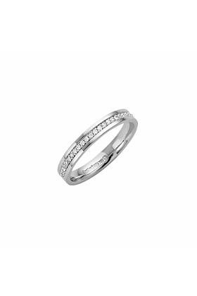 18kt White Gold 3mm Diamond Eternity Wedding Ring