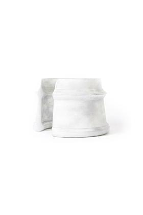 MyCity Tehran Wide Cuff In White Pat Silver