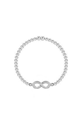 Sterling Silver Infinity Stretch Bracelet