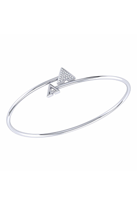 Sterling Silver Skyscraper Roof Bangle
