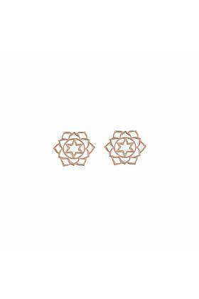 Rose Gold Anahata Stud Earrings | Tiny-Om