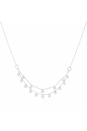 Sterling Silver Grace Double Strand Disc Necklace
