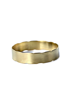 Yellow Gold Plated Handmade Brass Bangle