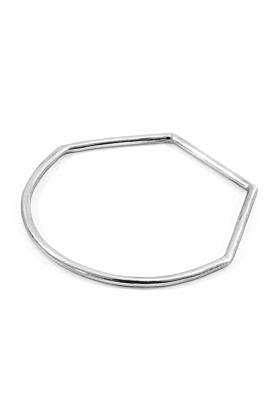Rowe Half Circle Geometric Silver Bangle