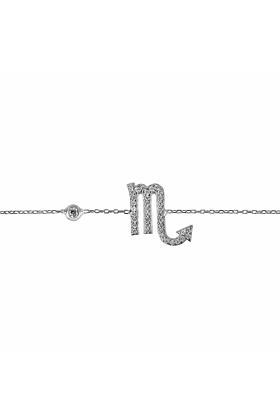 Scorpio Zodiac Bracelet Silver
