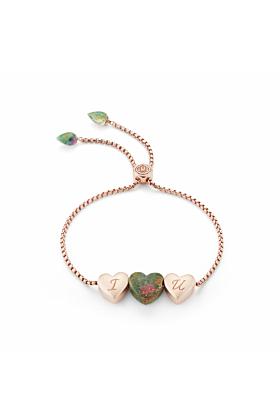 Luv Me Ruby Fuchsite Adjustable Heart Bracelet
