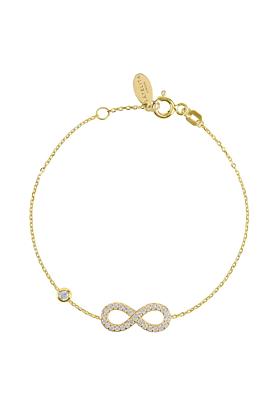Yellow Gold Plated Eternity Bracelet