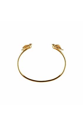 Gold Swallow torc bangle