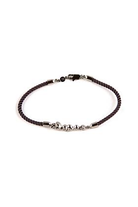 Ruthenium Chattering Skull Stack Bracelet
