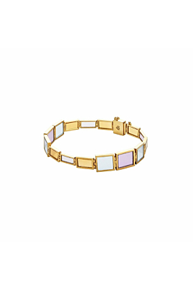 Yellow Gold & Multi-Gemstone Obelisco Bracelet | Jaime Moreno