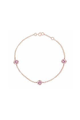 Classic Rose Gold Pink Tourmaline Dew Drop Bracelet