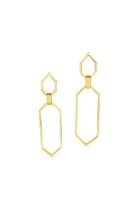 Yellow Gold Plated Dunton Earrings