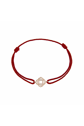 Rose Gold & Thread Muladhara Bracelet | Tiny-Om