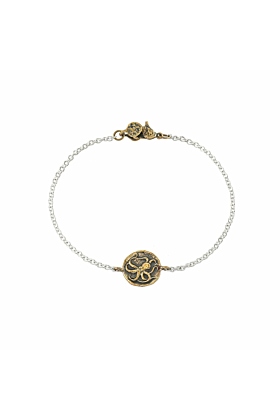 Bronze Octopus Mini-Medallion Bracelet