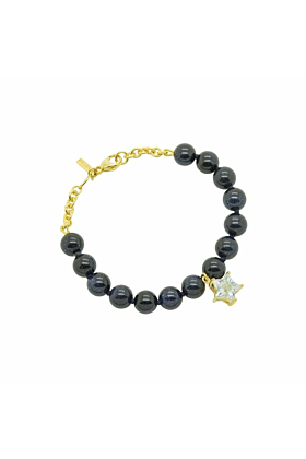 Gold and Blue Sunstone Star Bracelet