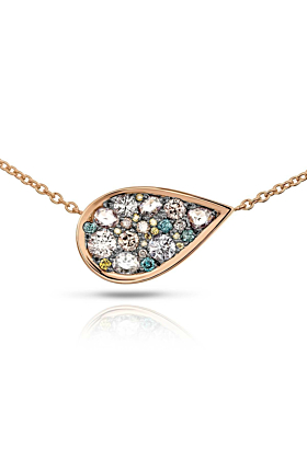 Starstruck Pendant - Pink, Yellow, And Blue Diamonds