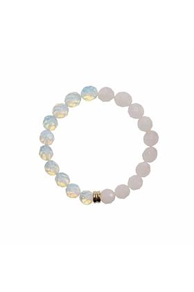 14kt Gold Orbis Opal & Rose Quartz Bracelet