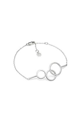 White Gold & Diamond Embrace Bracelet