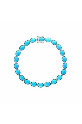 14kt White Gold Turquoise Bracelet