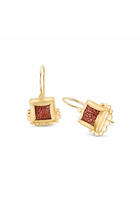 Yellow Gold Auka Earrings