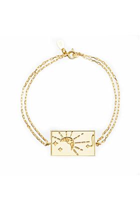 24kt Yellow Gold Plated Celestial Days - Monday Bracelet