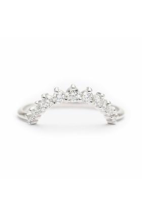 14kt Gold Diamond Crown Ring