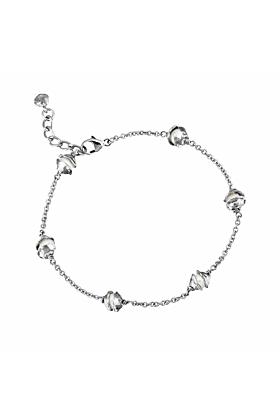 Silver Multi Pearl Encased Bracelet